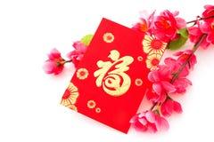 Det isolerade kinesiska nya året eller vårfestivalen anmärker Fotografering för Bildbyråer