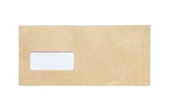 Det isolerade kuvertet Arkivfoton