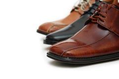 det isolerade male valet shoes white Royaltyfria Foton