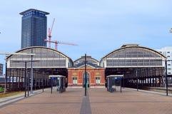 Det järnvägsstationHollands spåret Royaltyfri Bild