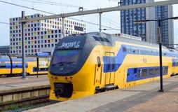 Det järnvägsstationHollands spåret Royaltyfria Foton