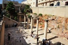 Det judiskt inkvarterar i Jerusalem Israel arkivbild