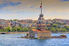 Det jungfru- tornet för ` s, Istanbul Royaltyfri Fotografi