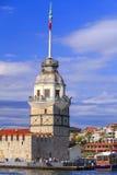 Det jungfru- tornet för ` s, Istanbul Royaltyfria Bilder