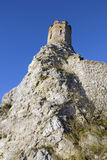Det jungfru- tornet och den östliga väggen av Devin rockerar Fotografering för Bildbyråer