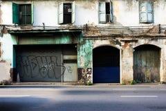 Det kalla forntida huset i staden Fotografering för Bildbyråer
