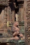 Det kambodjanska tempelet fördärvar Arkivfoto
