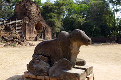 Det kambodjanska tempelet fördärvar Arkivfoton