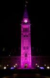 Det kanadensiska fredtornet firar dagen av flickan Fotografering för Bildbyråer