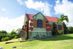 det karibiskt Ön av Antigua Den gammala kyrkan Royaltyfria Bilder