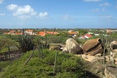 det karibiskt Ön av Aruba Nationalpark Arikok Arkivbilder