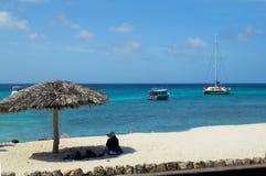 det karibiskt Ön av Aruba Strand Arkivfoton
