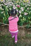 Det kinesiska barnet tar foto Fotografering för Bildbyråer