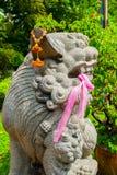 Kinesiskt förmyndarelejon, Fu hund, Fu lejon, Lumphini p Arkivbild