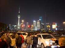 Det kinesiska folket firar nytt år Arkivbilder