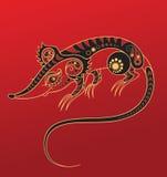 det kinesiska horoskopet tjaller år Royaltyfri Bild