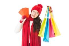 Det kinesiska nya året är lycklig shoppingferie Royaltyfria Foton