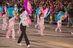 Det kinesiska nya året ståtar i Chinatown Royaltyfri Fotografi