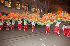 Det kinesiska nya året ståtar i kineskvarter Royaltyfri Foto