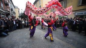 Det kinesiska nya året ståtar i Milan 2014 Royaltyfria Bilder