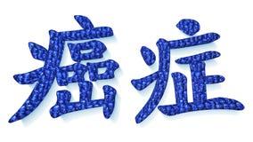 Det kinesiska ordet för cancer royaltyfri illustrationer