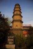 Det kinesiska tempelet står hög Fotografering för Bildbyråer