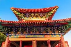 Det kinesiska tempeltaket Fotografering för Bildbyråer