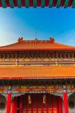 Det kinesiska tempeltaket Arkivbild