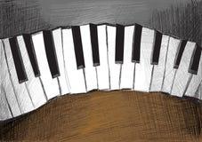 Det knapphändiga pianot trevar Arkivbilder