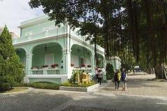 det koloniala huset macau bevarade taipa Arkivbilder