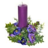 det konstgjorda stearinljuset blommar leaves Royaltyfri Bild