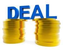 Det kontanta avtalet föreställer pengarrikedom och transaktion Fotografering för Bildbyråer