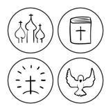 Det kristna symbolet skissar Arkivfoton