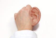 Det kulöra silikonet gjorde det konstgjorda örat Arkivfoto
