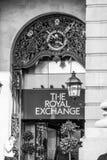 Det kungliga utbytet i London - shoppinggalleria - LONDON - STORBRITANNIEN - SEPTEMBER 19, 2016 Royaltyfria Bilder