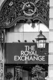 Det kungliga utbytet i London - shoppinggalleria - LONDON - STORBRITANNIEN - SEPTEMBER 19, 2016 Arkivbilder