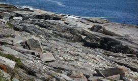 Det kust- havet vaggar hyllafara, uttålighet, styrka royaltyfria foton