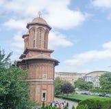 Det kyrkliga Kretzulescu byggandet av Iordache Cretulescu bucharest romania Royaltyfria Bilder