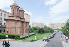 Det kyrkliga Kretzulescu byggandet av Iordache Cretulescu bucharest romania Royaltyfria Foton
