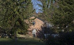 Det lantliga huset Disley, Stockport, Darbyshire England Lyme parkerar Fotografering för Bildbyråer