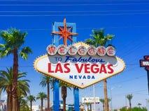 Det Las Vegas tecknet Arkivbilder