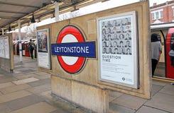 Det Leytonstone röret posterar royaltyfria foton