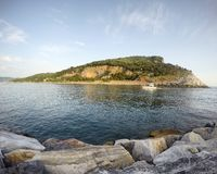 Det Ligurian havet Royaltyfria Foton