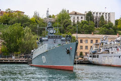 Det lilla anti--ubåt skeppet Royaltyfri Foto