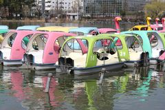 Det lilla fartyget i Ueno parkerar Arkivfoto