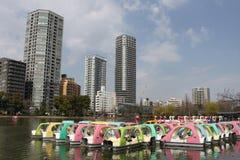 Det lilla fartyget i Ueno parkerar Royaltyfri Foto