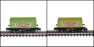 Det Lima N mätinstrumentet modellerar järnväg vagnar, Caxton Arkivbilder
