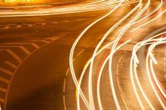 Det ljusa medlet trafikerar. Royaltyfria Foton