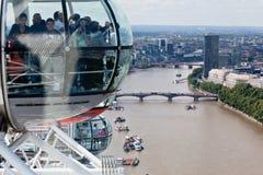 Det London ögat Royaltyfri Foto