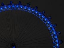 Det London ögat på natten Royaltyfria Bilder